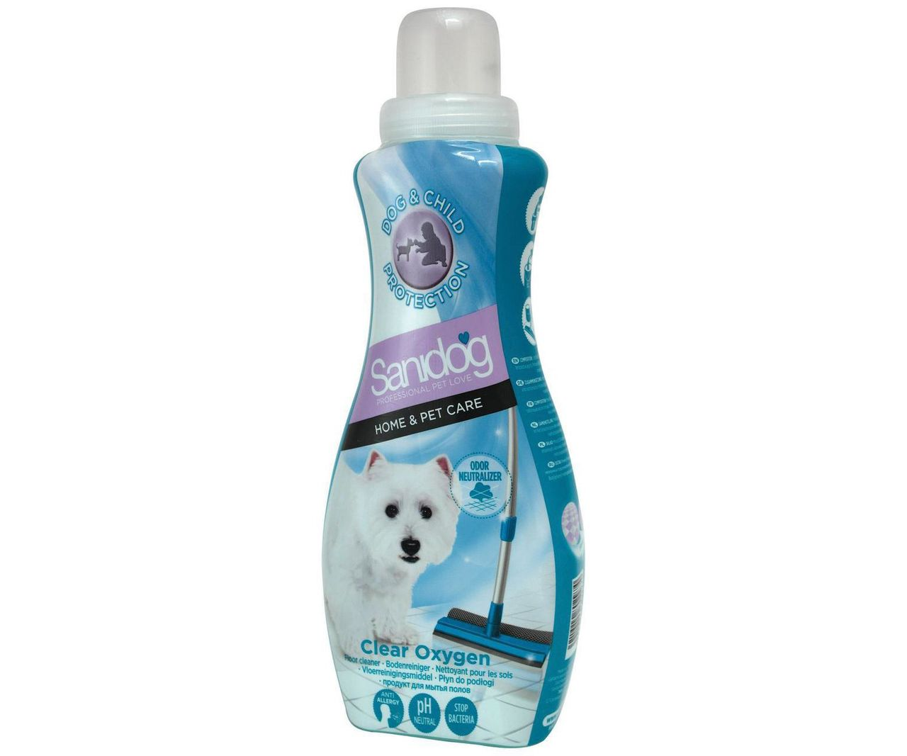Sanidog Floor Cleaner Clear Oxygen 1 L